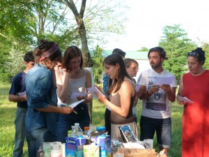 Rencontre entre les volontaires Service Civique et les stagiaires BAFA - Au Parc Mussonville